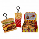 Plush fast food with snap hook, approx. 12 cm, 2-