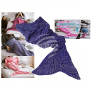 wholesale Cushions & Blankets: Lilafarbene blanket, Mermaid, 100% poly