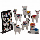 wholesale Magnets: Rubber magnet, llama, approx. 7 cm, 6 times assort