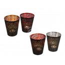 groothandel Kaarsen & standaards: Black metal thee  licht houder met gekleurde Besch