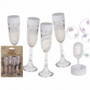 Soap bubbles, champagne glass, approx. 16 ml, set