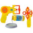 Plastic soap bubble gun with approx. 120 ml soap
