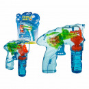 Plastic Bubble Gun with light and about 56