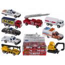 Model car, emergency vehicles, made of plastic