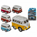 Model car with friction motor, VW Mini Bus, made o