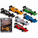 Plastic racing car, about 7.5 cm, 6 times assorted