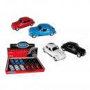 Model car with pull back, VW Beetle 1960, metal wi