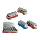 Model car with pull back, VW T1 Bus 1963, plastic
