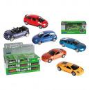 wholesale Models & Vehicles: Metal model car,  with plastic, ca. 7 cm, 12 ass.,