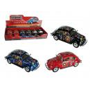 wholesale Models & Vehicles: Metal model car,  VW Beetle 1967 - Flower Power, ca