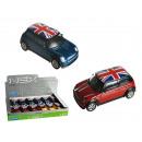 Model car, Mini  Cooper UK, metal with plastic, ca.