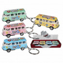 Key Chain with friction motor, VW T1 Bus 196