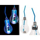 Plastic drinking glass, incandescent lamp with LED