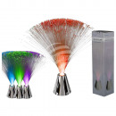 Plastic Fiber lamp with chrome base, about 30 cm,
