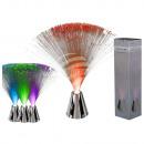 Plastic Fiber lamp with chrome base, about 30 cm,