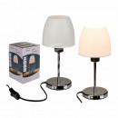 Silver metal table lamp II, H: approx. 26.5 cm