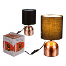 Copper-colored metal table lamp III