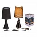 Black plastic table lamp III