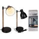 Black metal table lamp V, H: approx. 45 cm