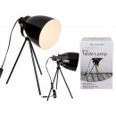 Black metal table lamp IX, H: approx. 42 cm