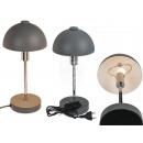 Gray metal table lamp III, H: approx. 37 cm