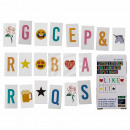 Letters & signs set, 85 pieces, for illuminate