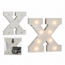 Illuminated wooden letter X, with 8 LED, about 16