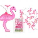 Großhandel Lampen: Lichterkette,  Flamingo, mit 10 LED, L: ca. 1,65 m,
