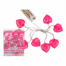 wholesale Light Garlands: Light chain, heart, with 10 LED, L: approx. ...