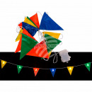 wholesale Light Garlands: Fairy lights, colorful flags, with 8 LEDs, ca. 18