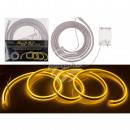 wholesale Light Garlands: Yellow neon light tube with LED, L: 2 m, for 3 M