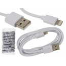 White USB cable for Iphone , L: about 1 m