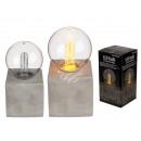 Decorative light, retro light bulb I with LED, on