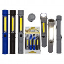 wholesale Flashlights: Plastic flashlight with LED & magnet, approx.