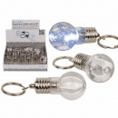 Keychain, Bulb, with LED, incl. batteries, ca. 6 c