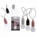 Lampadina di plastica con LED bianchi (incl