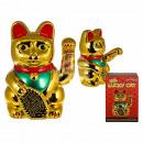 XXL plastic winke cat, approx. 35 x 24 cm