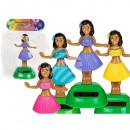 Moveable figurine, Hula Girl I, on plastic base wi