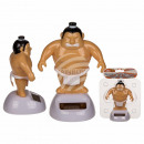 Moving figure, sumo wrestlers, on plastic base