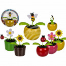 Portable Flowers & insects in plastic pot mi