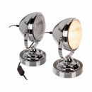 Table lamp, chrome headlight, approx. 27 cm, E14 -