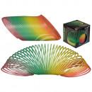 Plastic spiral, rainbow, glows in the dark