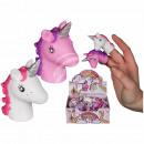 Plastic finger figure, unicorn, approx. 6 x 4 cm,