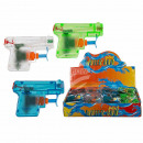 Plastic water gun, mini, approx. 7 cm, 3-colored