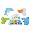 Plastic water gun, Animals, 10 cm, 4-fa