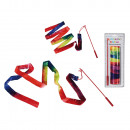 wholesale Sports and Fitness Equipment: Gymnastics ribbon, Rainbow, ca. 200 x 4 cm (Stick