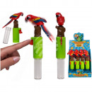 Plastic parrot with storage box,