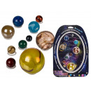 Glass marbles, solar system with 10 marbles