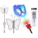 Plastic rod, butterfly, with light