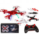 Remote Controlled Quadrocopter, Drone, with 4 LEDs